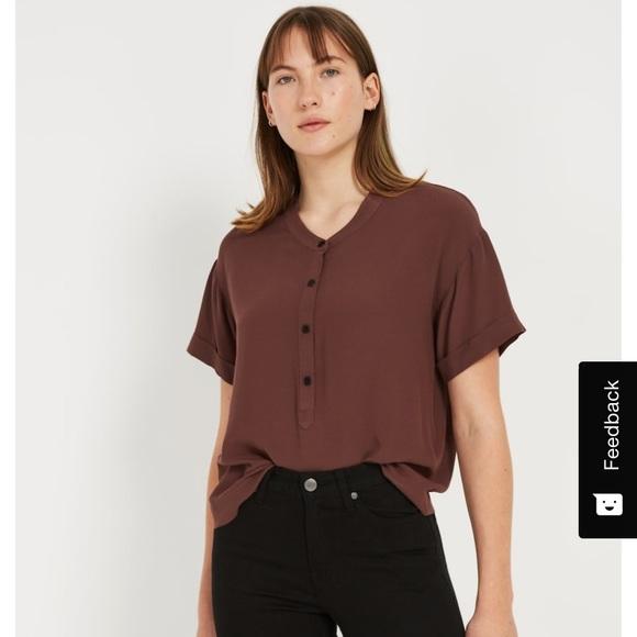 Dark purple camp collar shirt